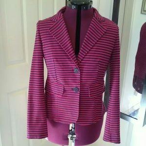 Kenar Red & Navy striped jacket Sz L